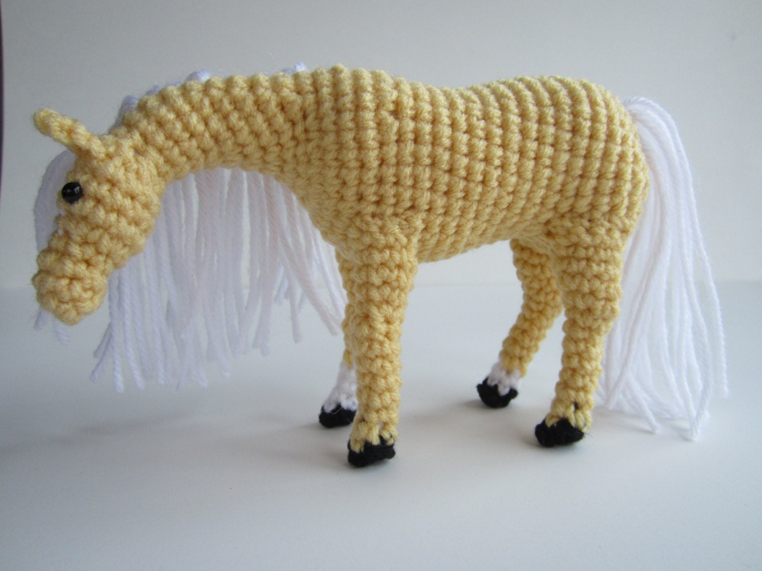 Amigurumi Horse Head : Pattern-Crochet Horse, Pony or Unicorn Applique Images ...
