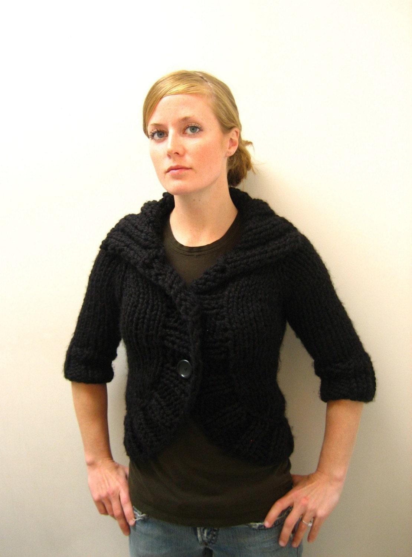 Bulky Sweater Knitting Patterns : COZY BOLERO // top down super bulky sweater by janerichmond