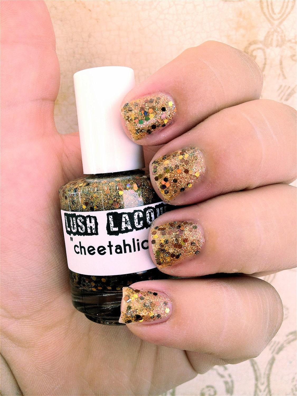 Cheetahlicious :  Custom-Blended Glitter Nail Polish / Lacquer