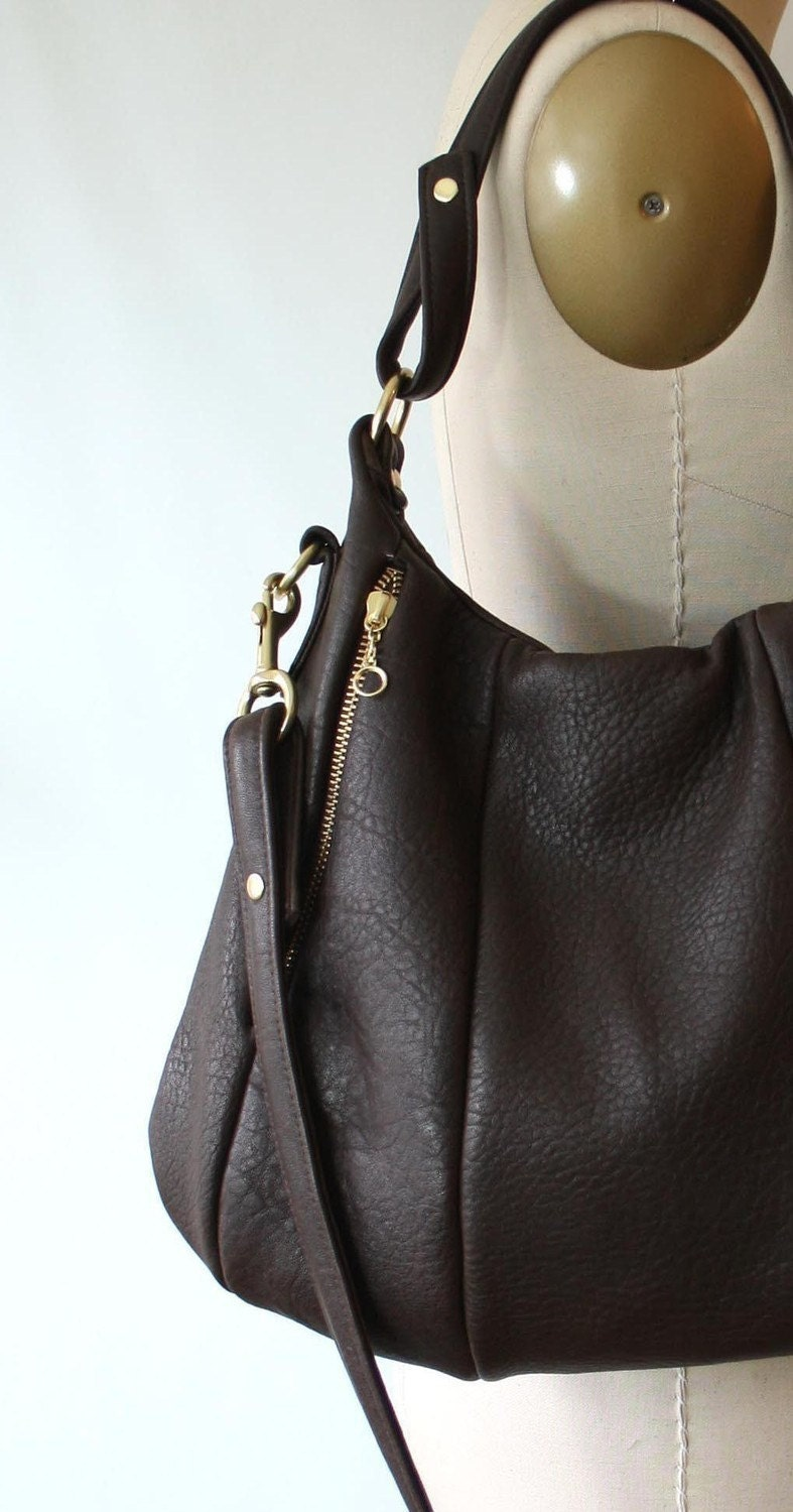 OPELLE Lotus Bag - Pebbled Elkskin Leather in Rich Chocolate - Made to Order