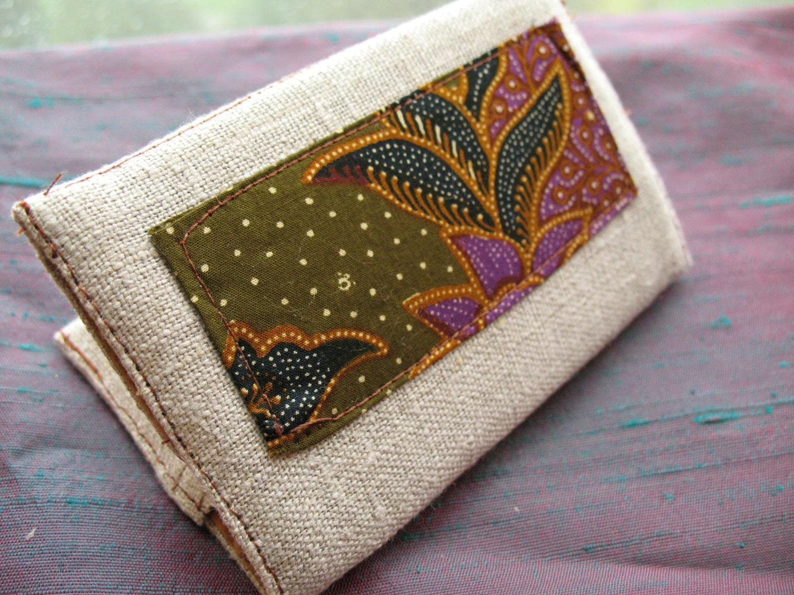 Vintage batik and linen card wallet : Asian iCandy Store, Unique Asian Arts and Gifts From Independent Artists