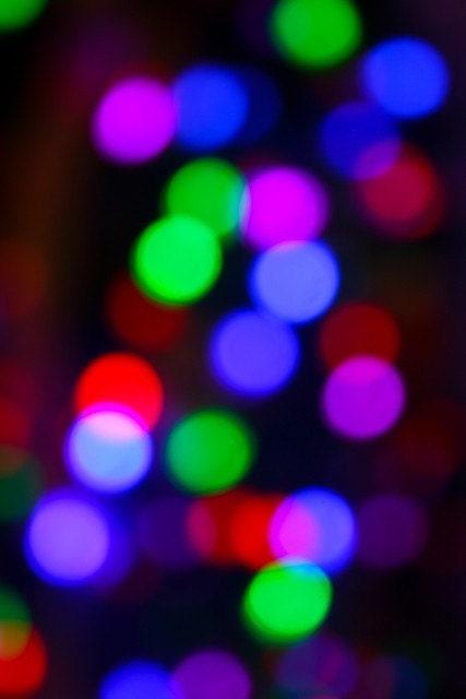 Bokeh Lights Neon Colorful Holidays Fine Art Christmas Photography ...