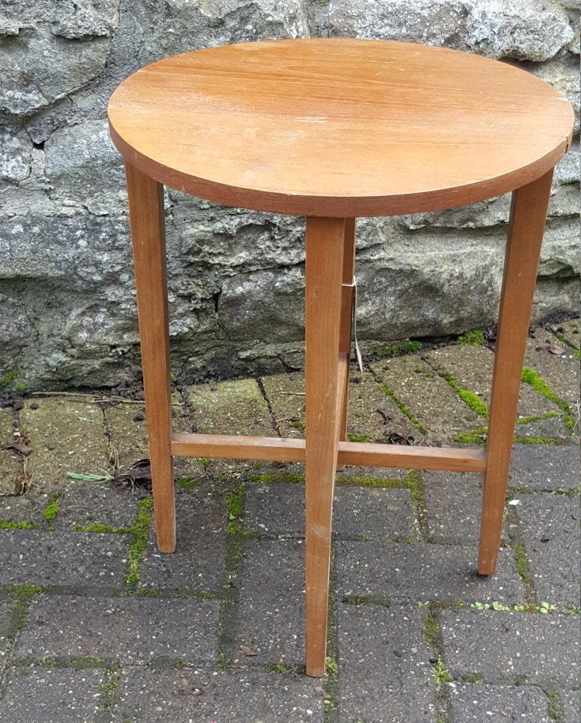 Vintage Mid Century Teak Coffee Table  Side Table  Fold Up Table