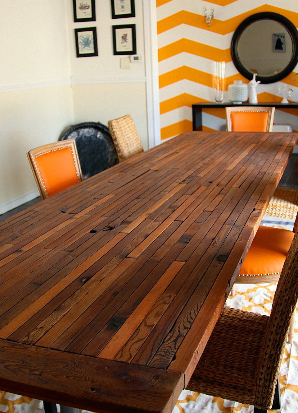 Extraordinary Custom Reclaimed Dining or Conference Table - RandRDesignworks