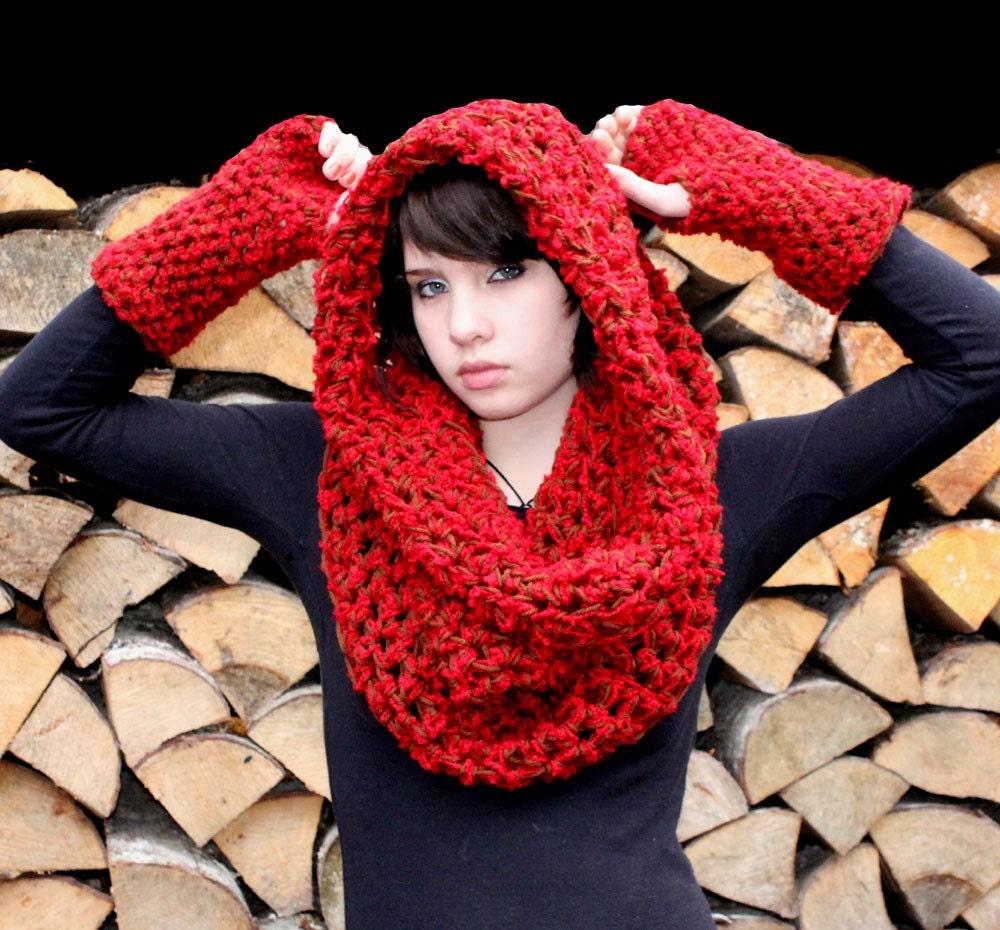 زبر راهب شال گردن شال قهوه ای قرمز هود رهایی
