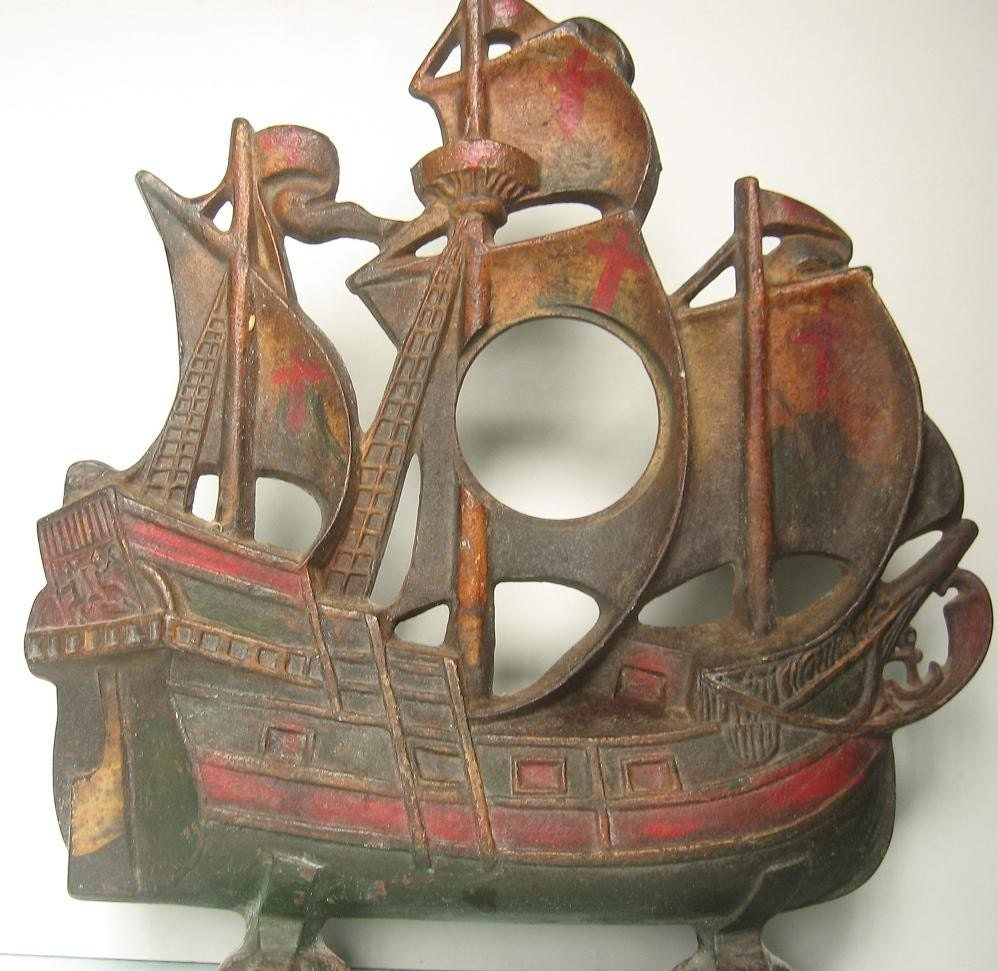 Antique Cast Iron Ship Door Stop By Scentsisters On Etsy