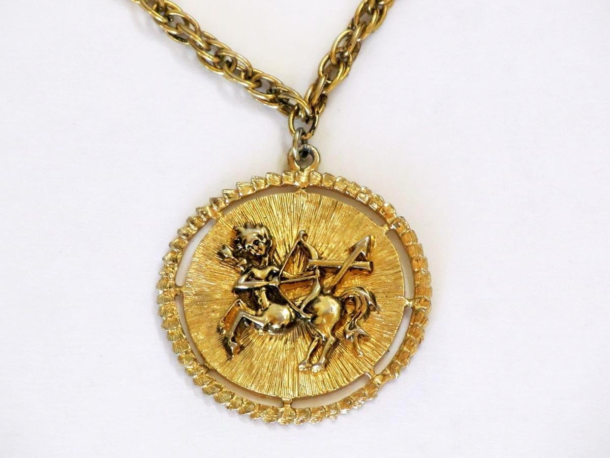 sagittarius medallion necklace pendant necklace by