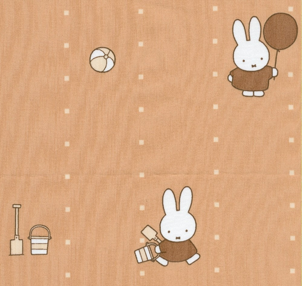 Miffy at Play on Tan - Japanese Fabric Fat Quarter