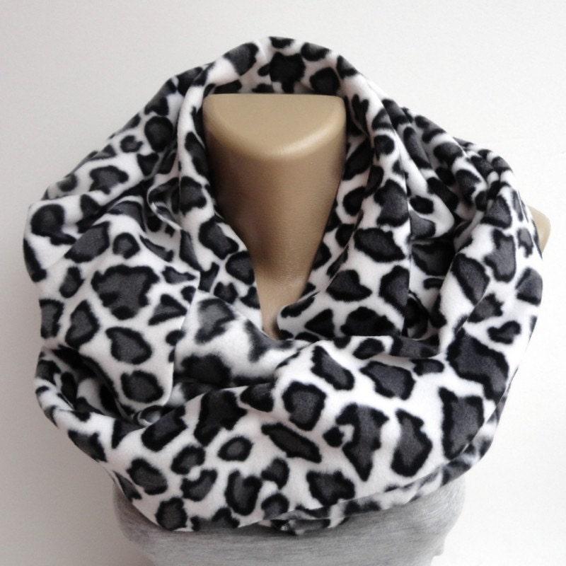 leopard fleece scarf infinity scarves winter by senoaccessory