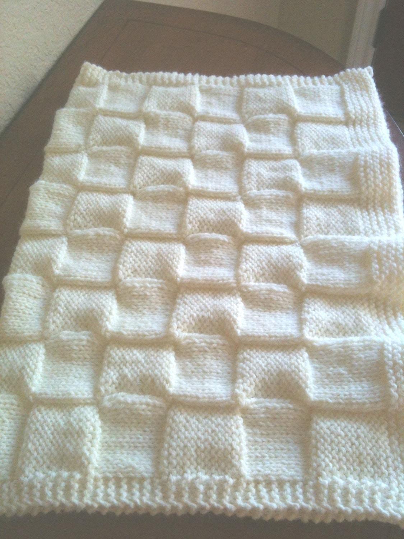 Hand Knitting Blankets : Soft hand knitted baby blanket by granascorner on etsy