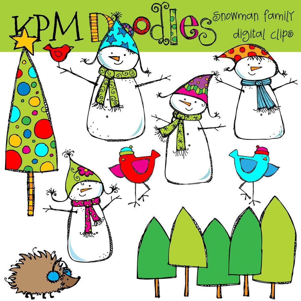 snowman family clip art free - photo #14