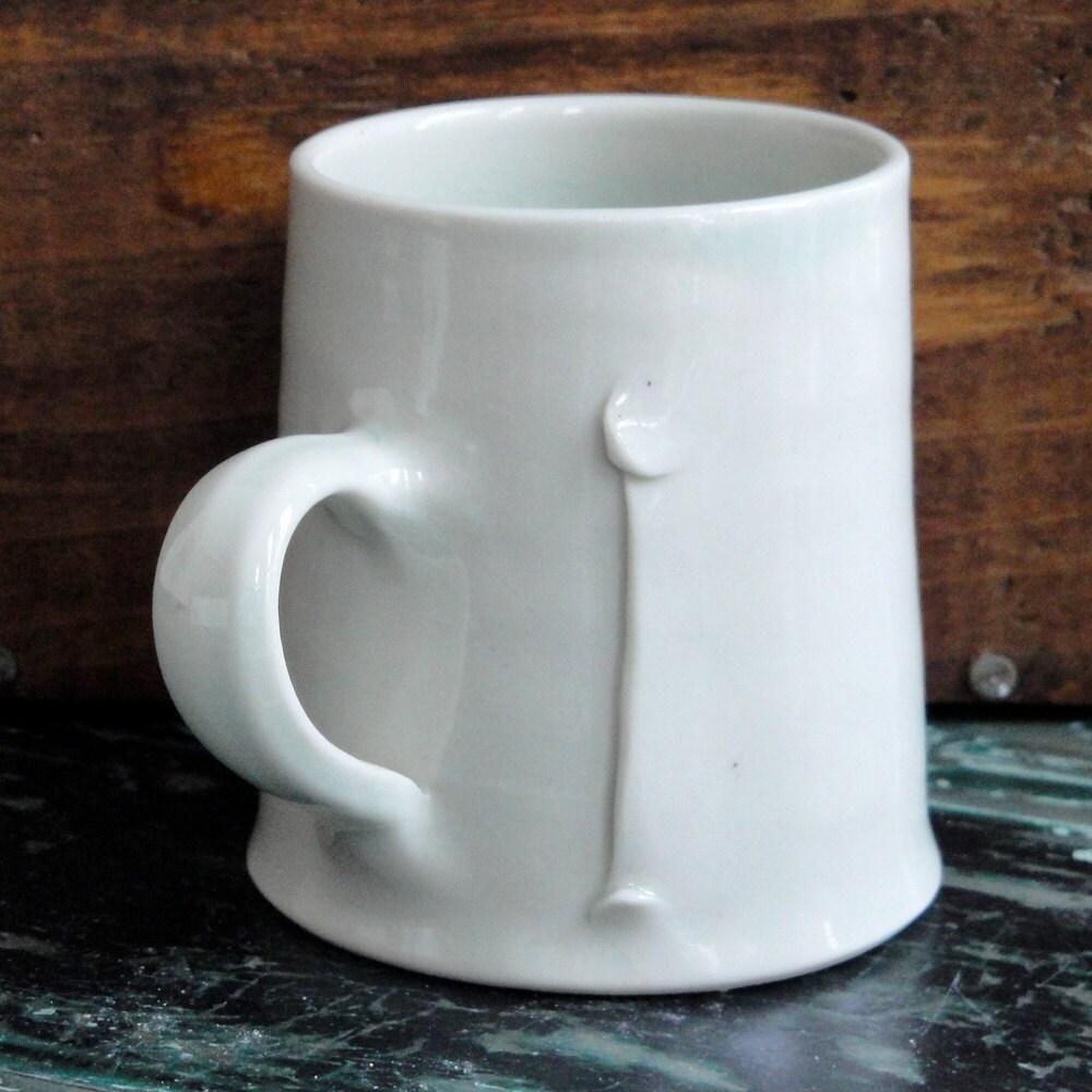 Small Wheel Thrown Porcelain Mug