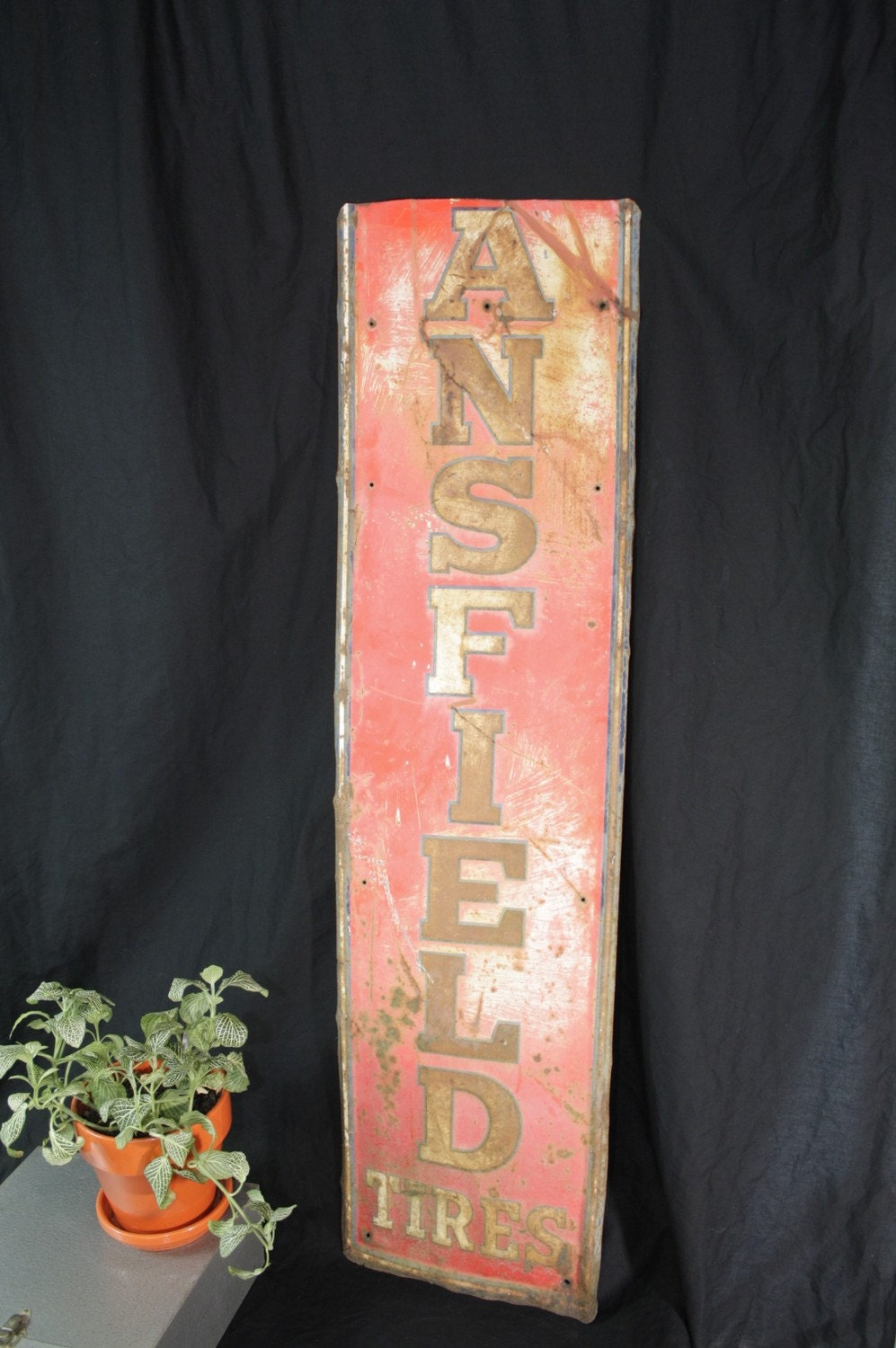 Industrial Rusty Red Sign