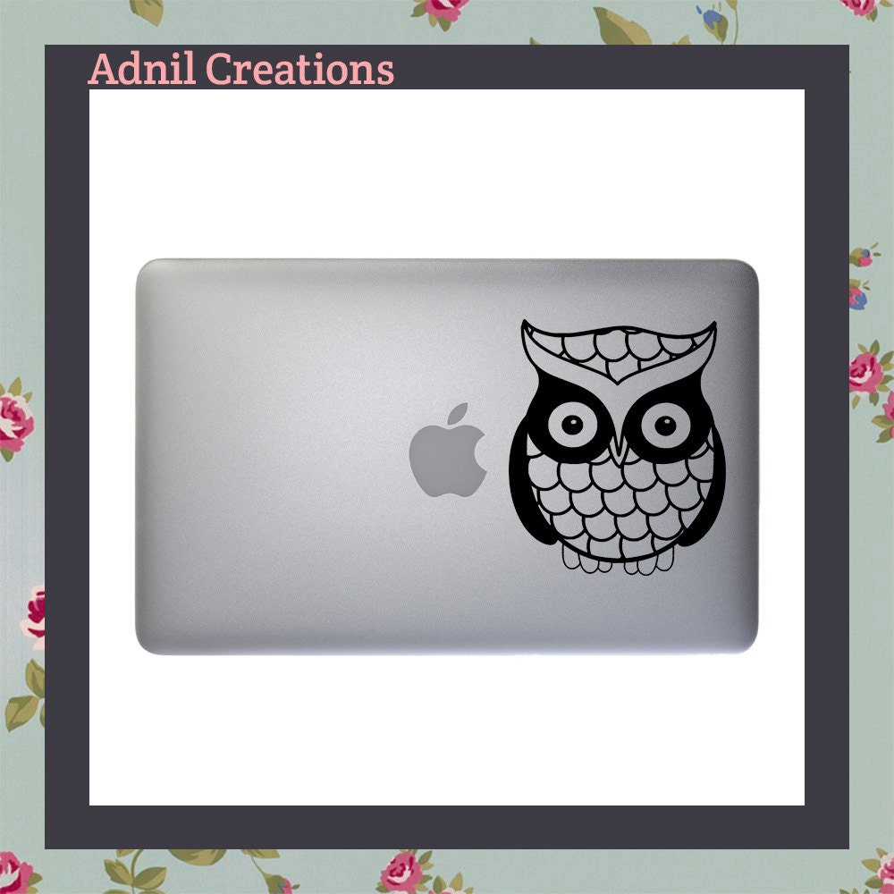 Cute Owl Macbook Decal Apple Macbook iPad and other laptop stickers Mac Decal iPad Decals iPad stickers