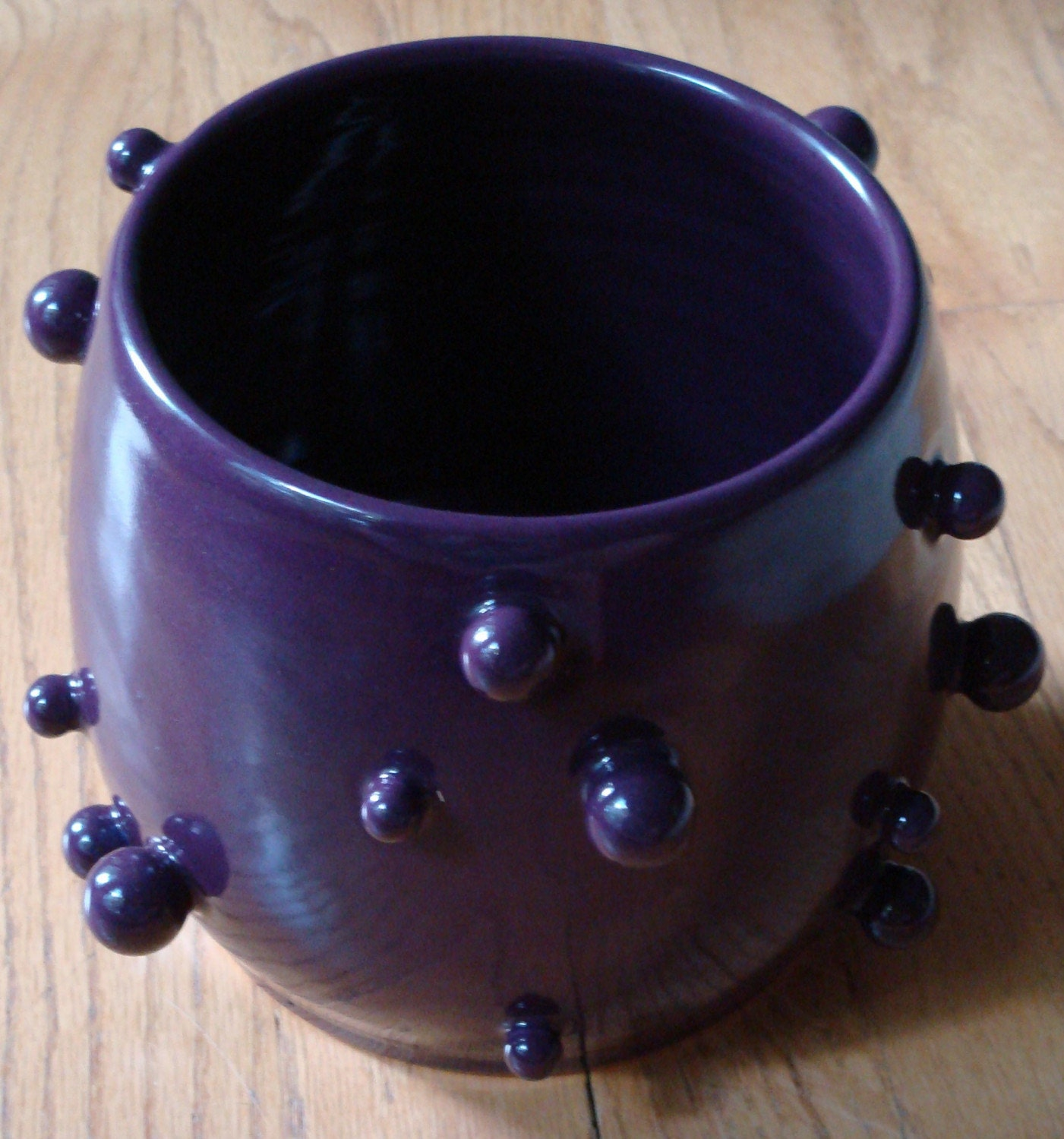 Porcelain Orb Bowl in Deep Purple