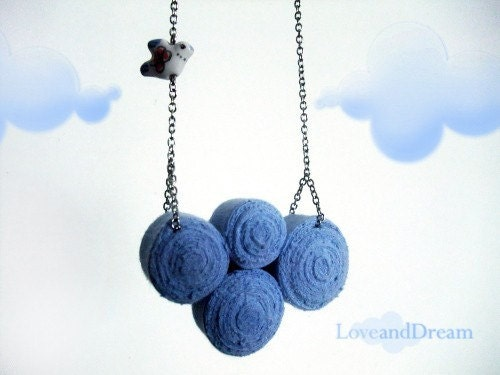 Cloud and The Bird Fibre Bib Necklace