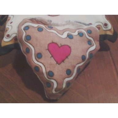 Gingerbread Heart Dog Toy