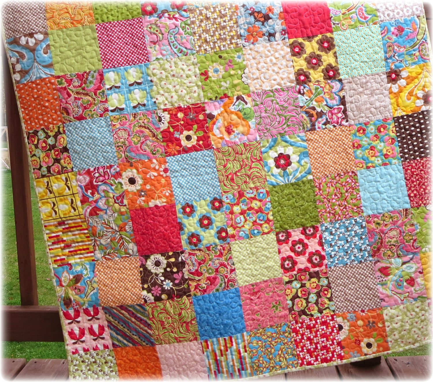 Baby Quilt Modern Scrappy Patchwork Charmer By Carlenewestberg