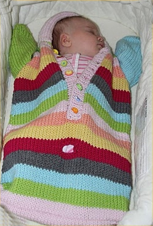 Baby Bunting Bag Knitting Pattern : Knitting PATTERN Baby Bunting knitting pattern by theknittingniche