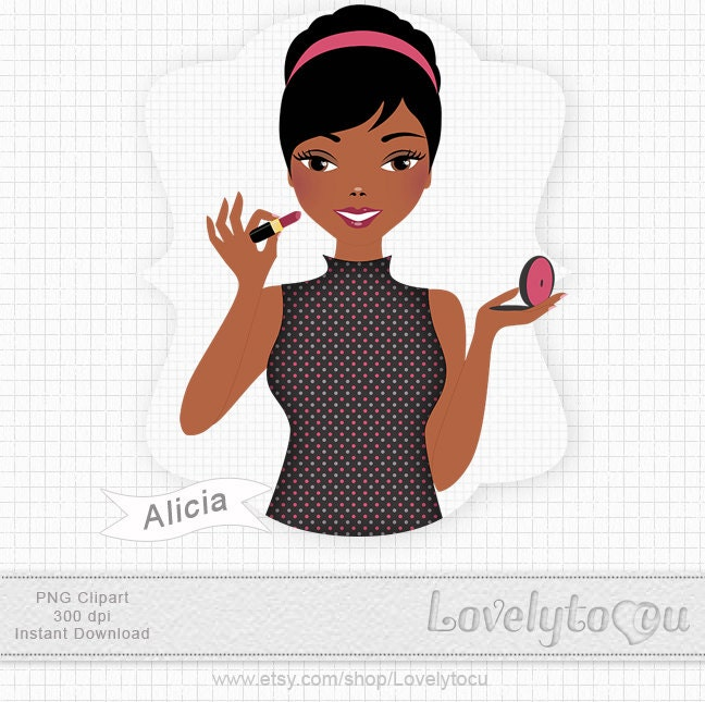 Girl Putting On Makeup Clipart Girl Putting On Makeup clipart