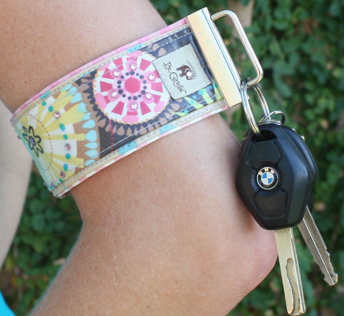 Be Cutieful Keyband - Carnival Bloom with Swarovski Crystals
