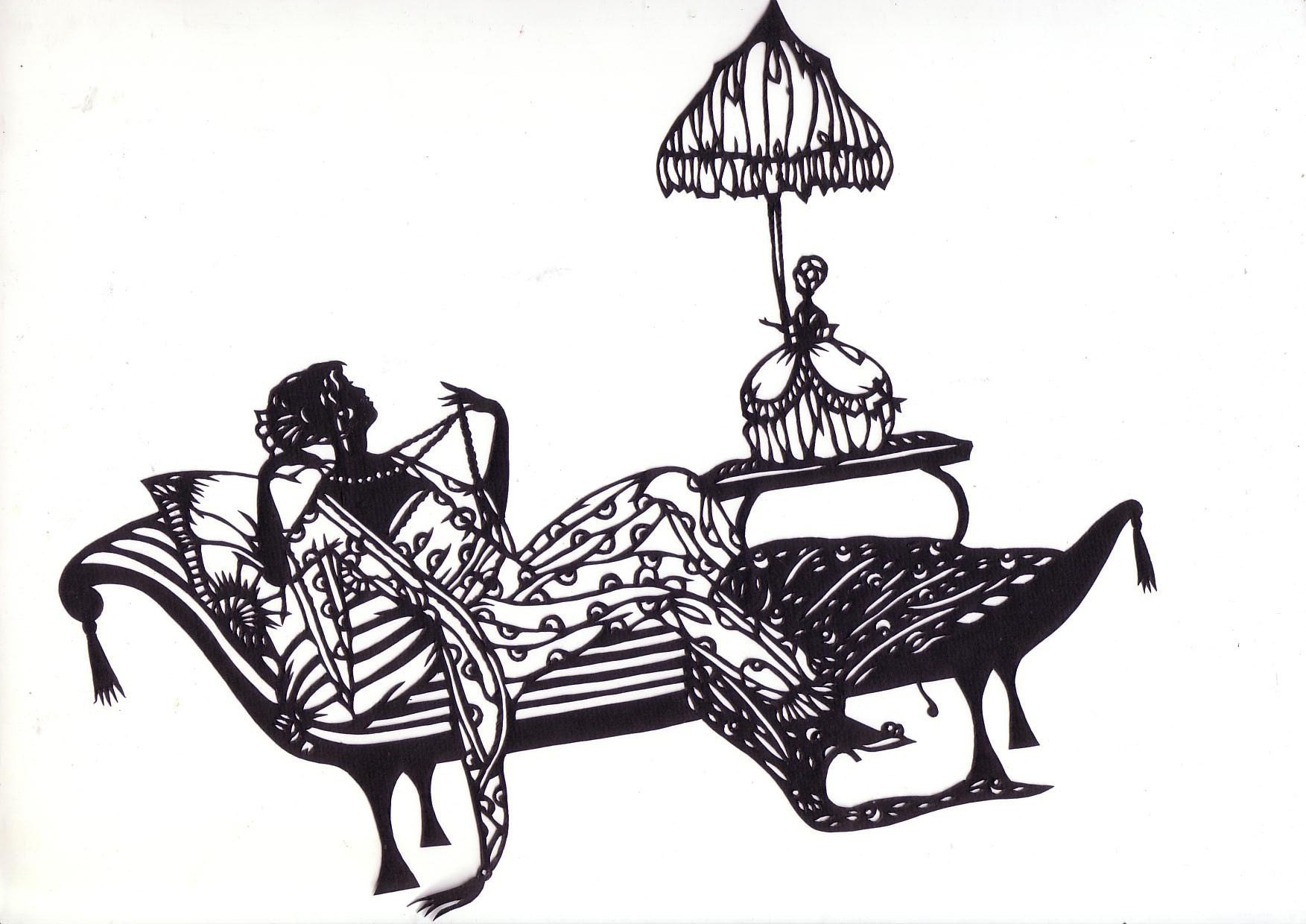 Papercuts-cutouts-handcuts-- Fahion woman