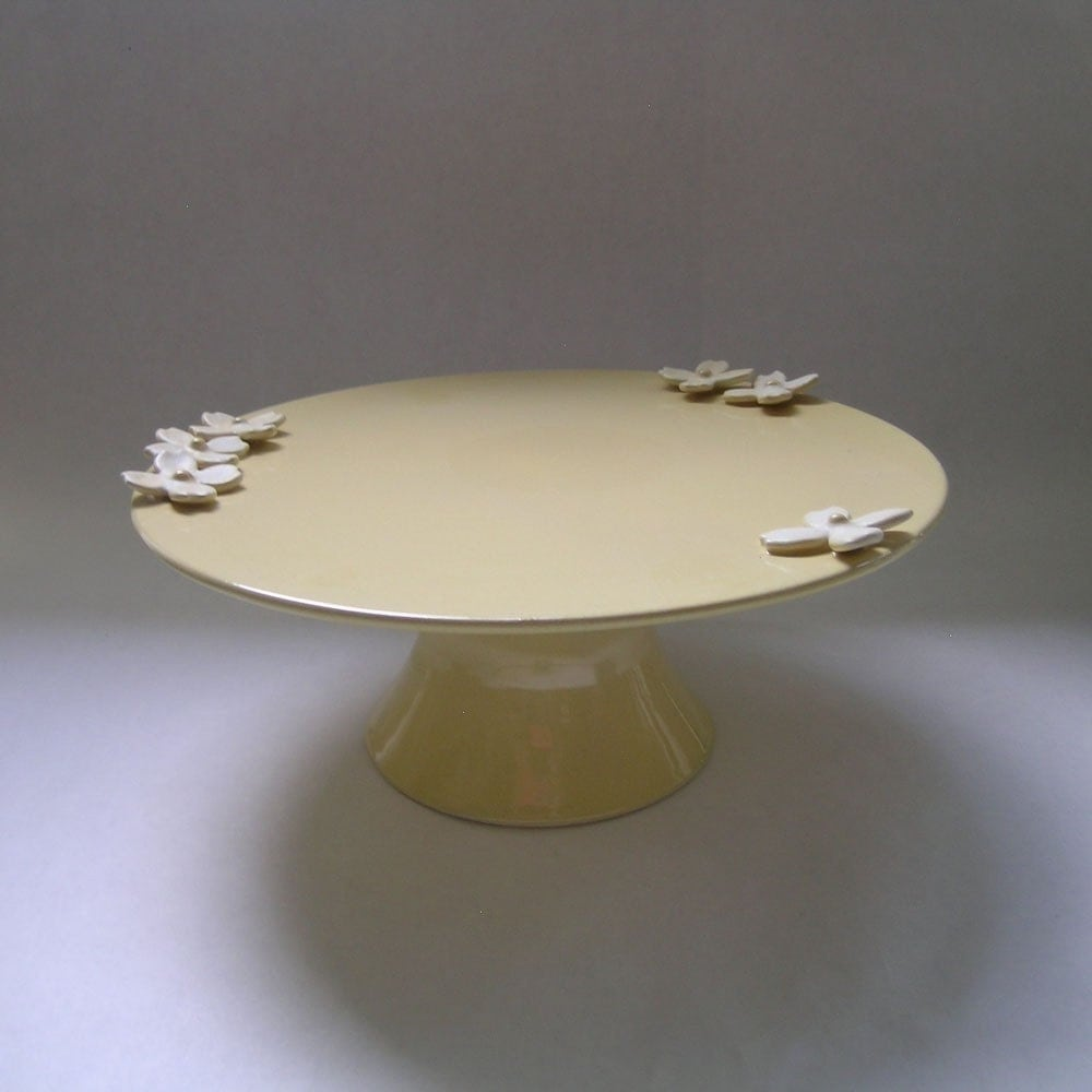 Large Dogwood Flower Cake Stand