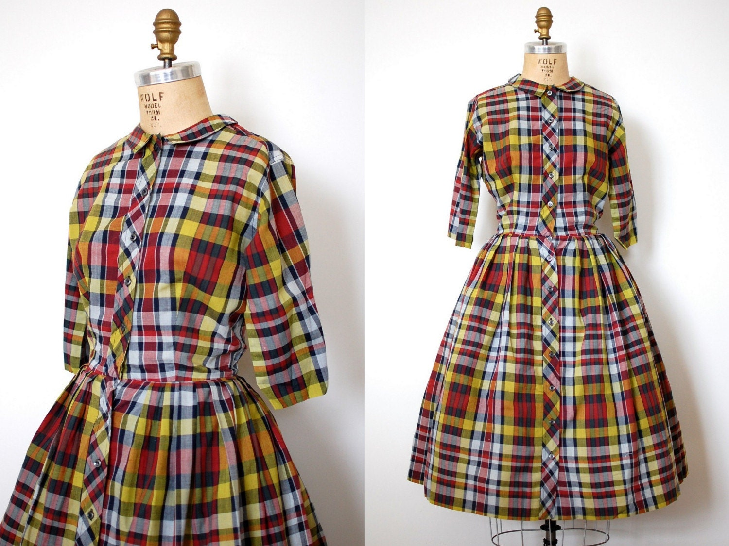 vintage 1950s Nine Girls Dress (50s)