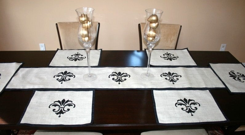 Elegant Table Placemats. Table Custom Makes She Burlap Even And And Hand Runners,  Using Runners ...