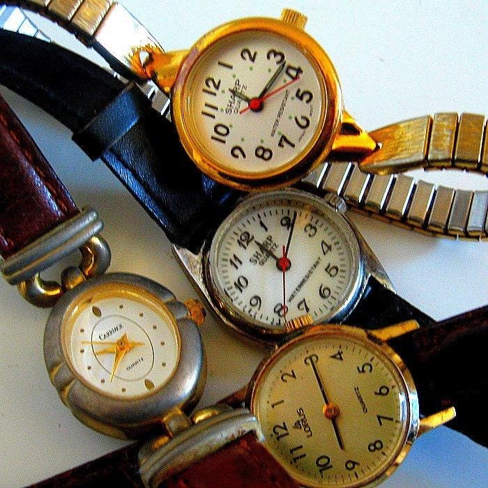 4 Vintage Ladies Watches Steampunk Supply RESERVED