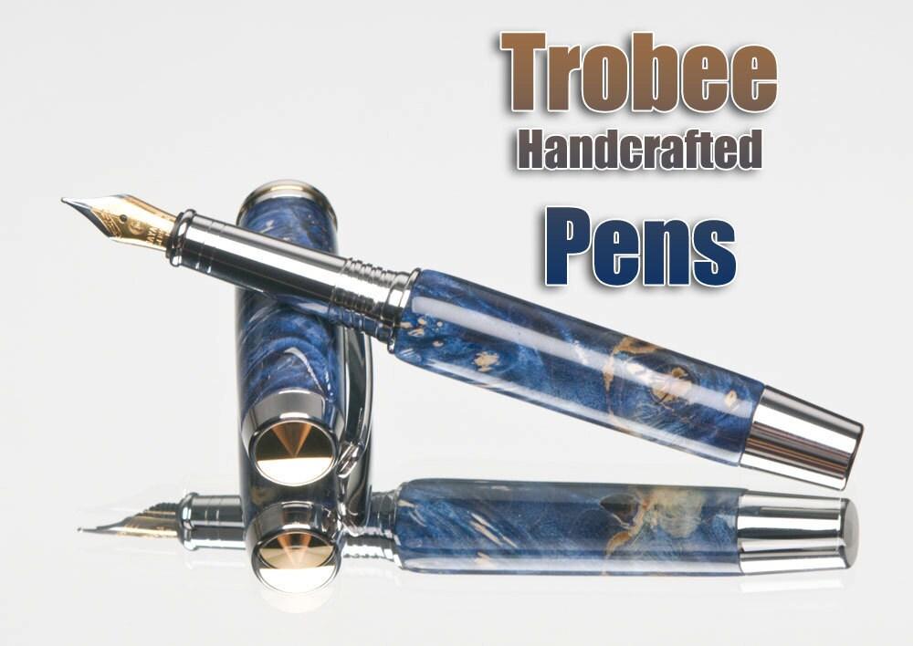 Blue Wood Fountain Pen