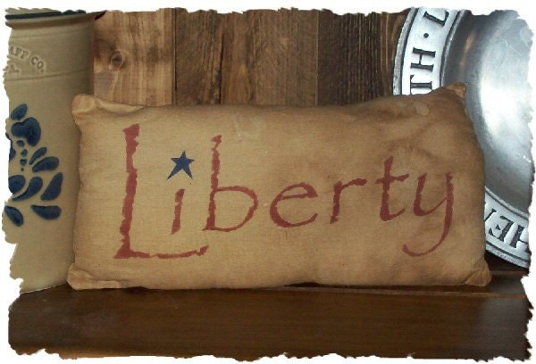 LIBERTY Primitive Americana Colonial Pillow Cupboard Tuck
