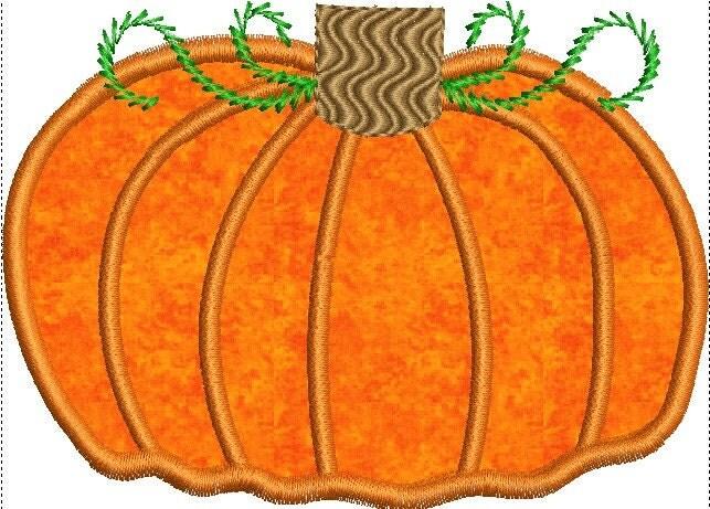Sale off fall pumpkin applique machine by