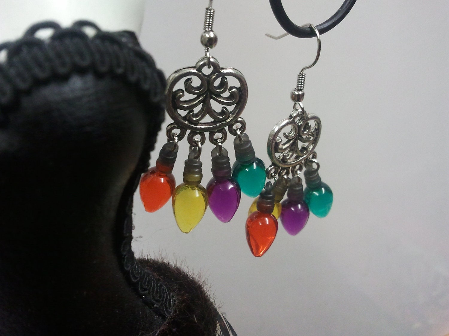 Four Bulb Dangle Earrings