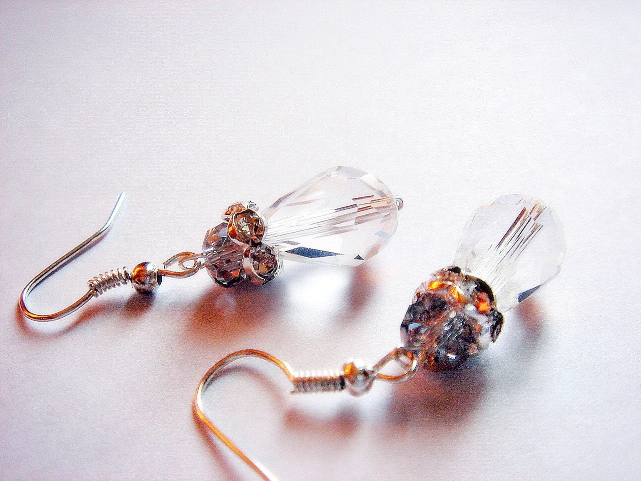 Royalty to Be Crystal Czech Glass Dangle Earrings