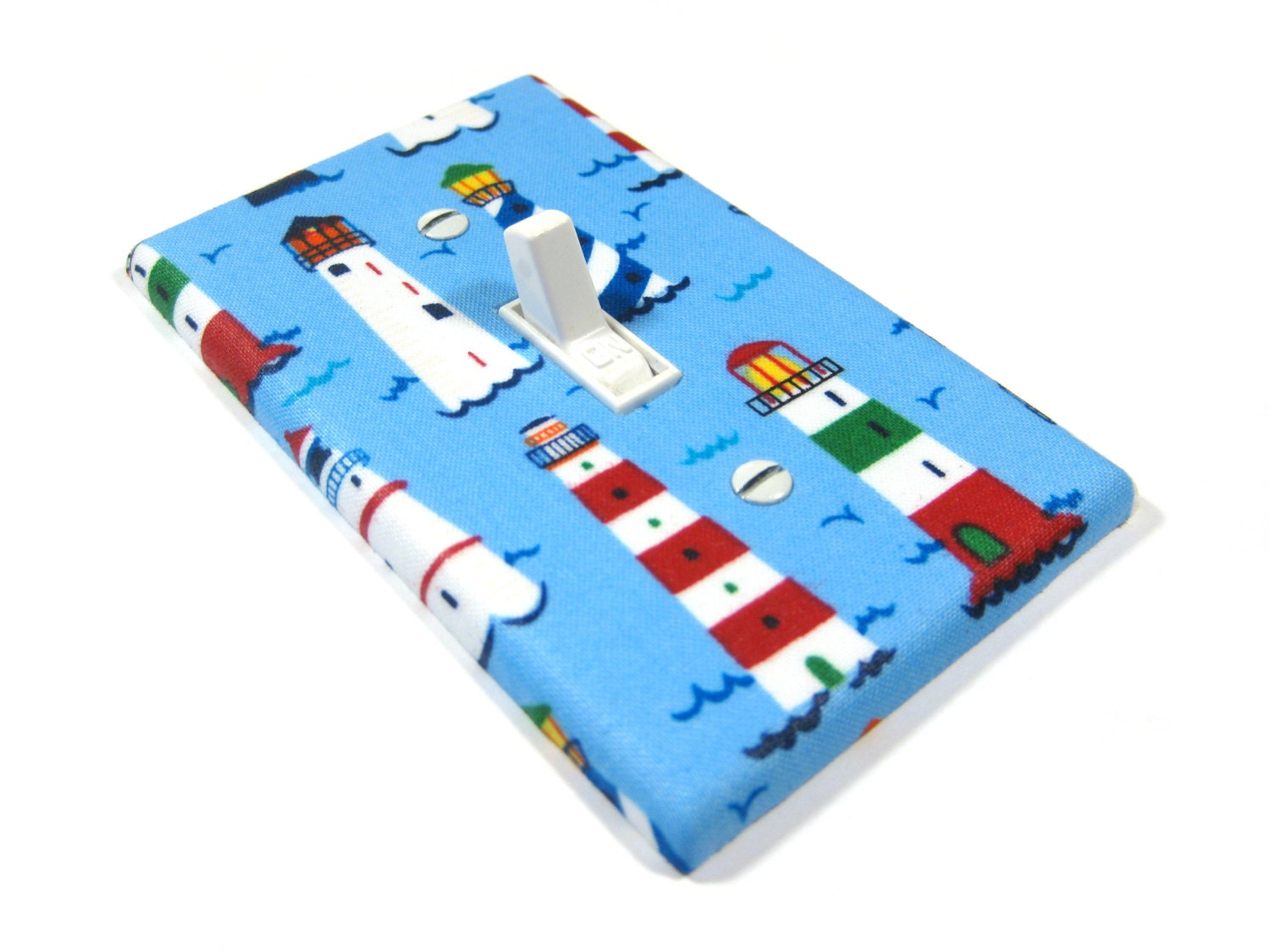Unavailable listing on etsy for Lighthouse switch plates