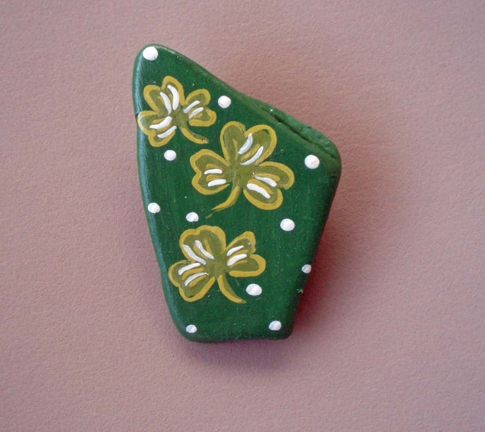 Triple Luck Shamrock Pin