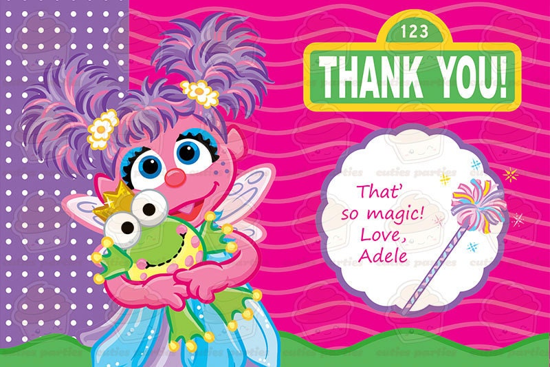 Abby Cadabby Printable Birthday Party Kit And Invitation With Thank