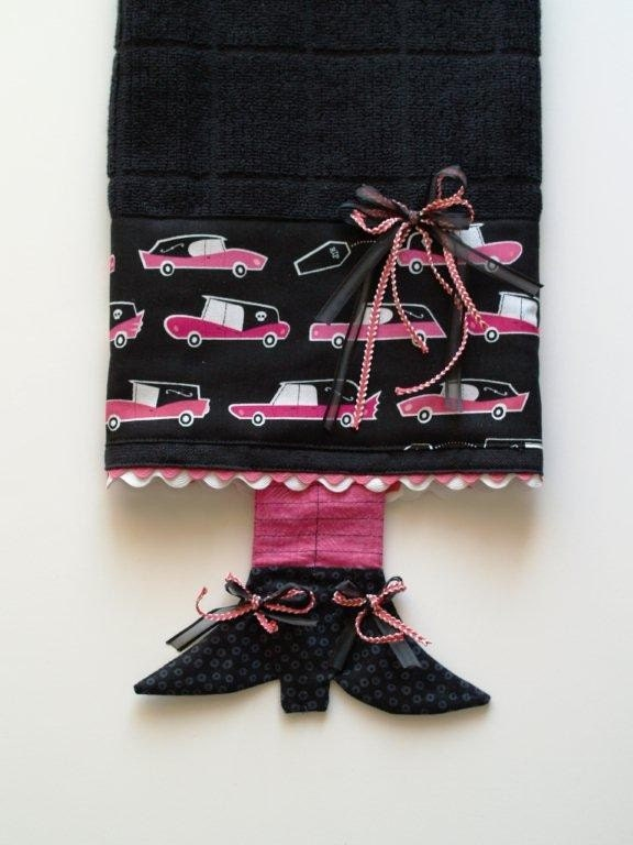 Feelin' Witchy Dishtowel With Falling Coffins