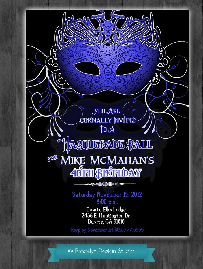 Masquerade Party Names Best Custom Invitation Template Ps Carrillo