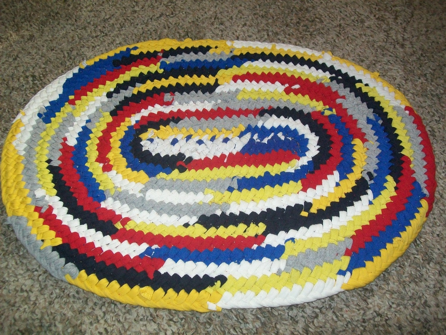 Toothbrush Rug Multi Colored