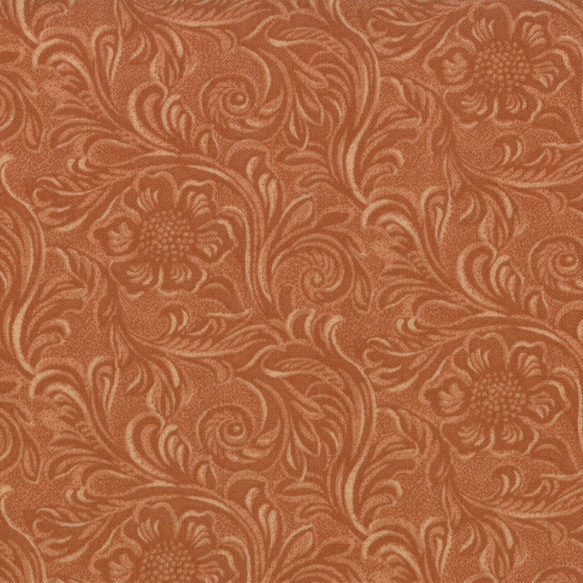 Sale 20 off coupon code tooled leather cotton quilt fabric for Quilting fabric sale