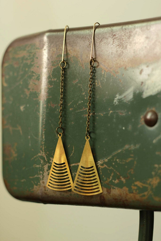 art deco arrow earrings