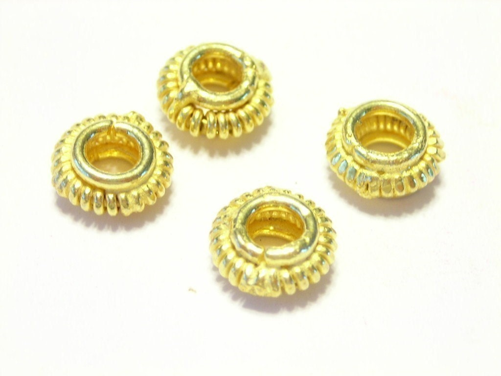 18k gold vermiel Bali wire style spacer beads