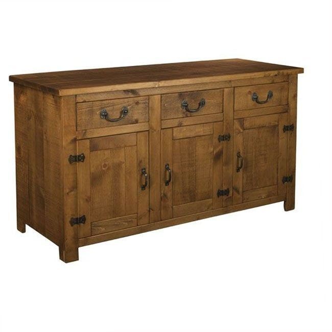 Rustic plank Furniture NEW Real Solid Wood Sideboard Dresser Base Cupboard Drawers and Doors Rustic Plank Sawn Pine Furniture rustic pine