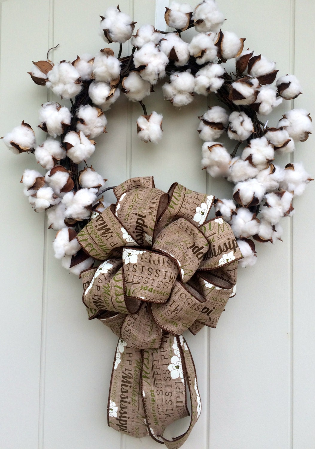 How to Make a Cotton Wreath