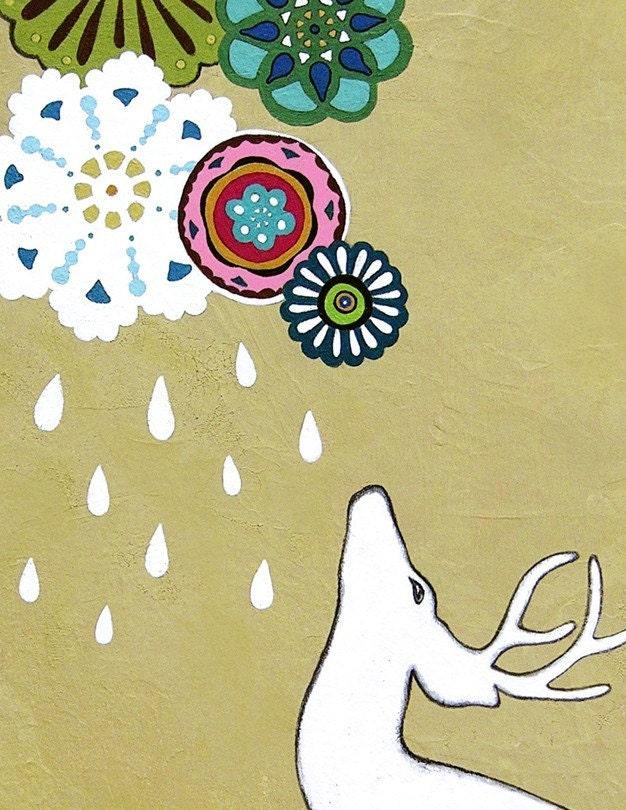 Raining Down Possibility MODERN Fine Art Print