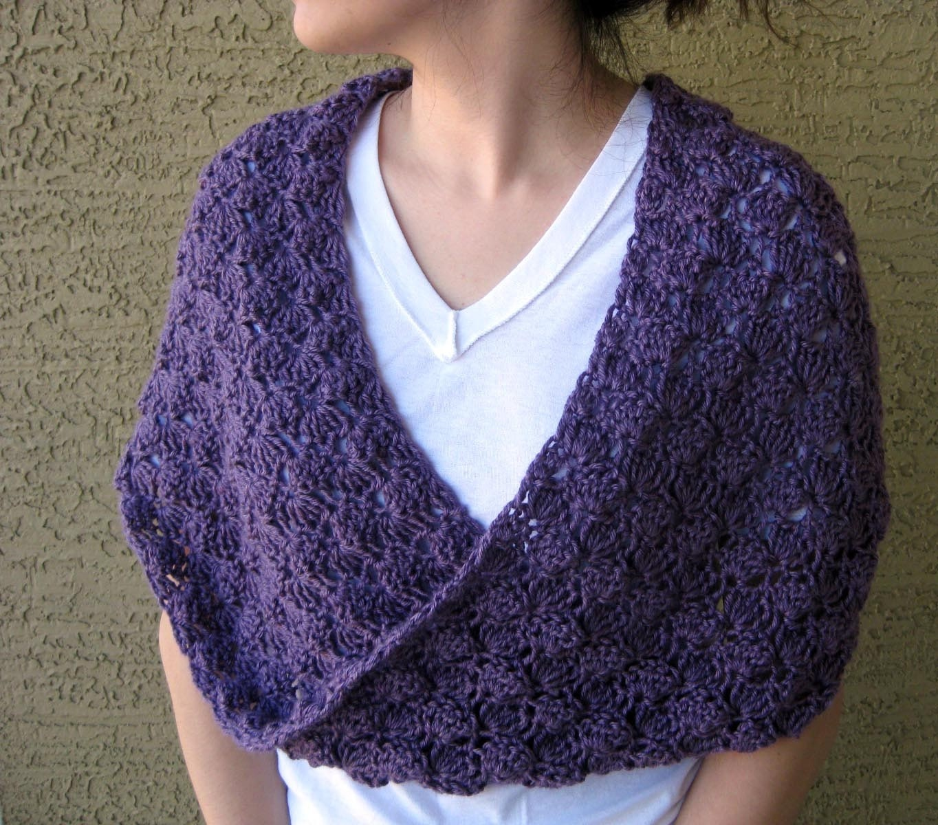 Vive Provence Crochet Mobius Wrap by BijouxTricotage on Etsy