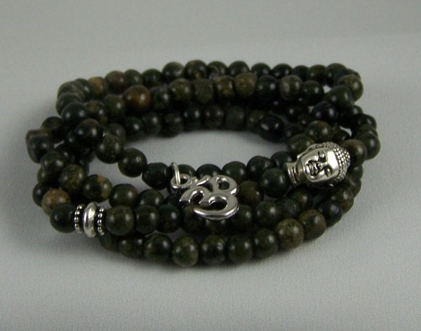 Buddha Bracelet SET, Stretch Bracelet, Meditation Jewelry, Yoga Bracelet, Free Shipping