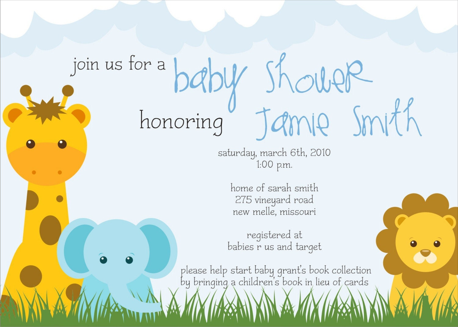 Outstanding Jungle Safari Baby Shower Invitation 1500 x 1071 · 228 kB · jpeg